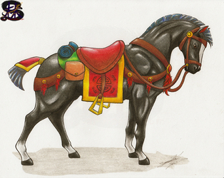 Chinese war horse Daiyu #2