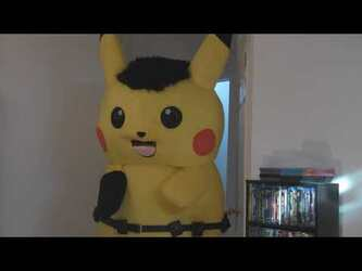Mascot Fursuiting Video: Ace Spade the Pikachu Encounters Art Block