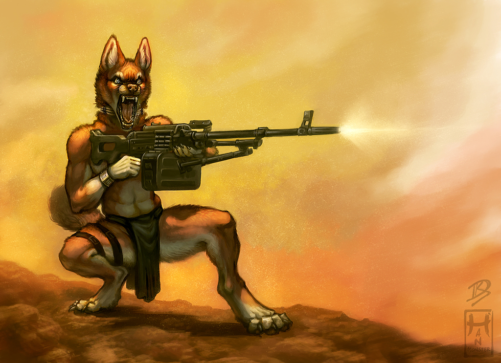 Suppressing Fire! (by HanMonster)