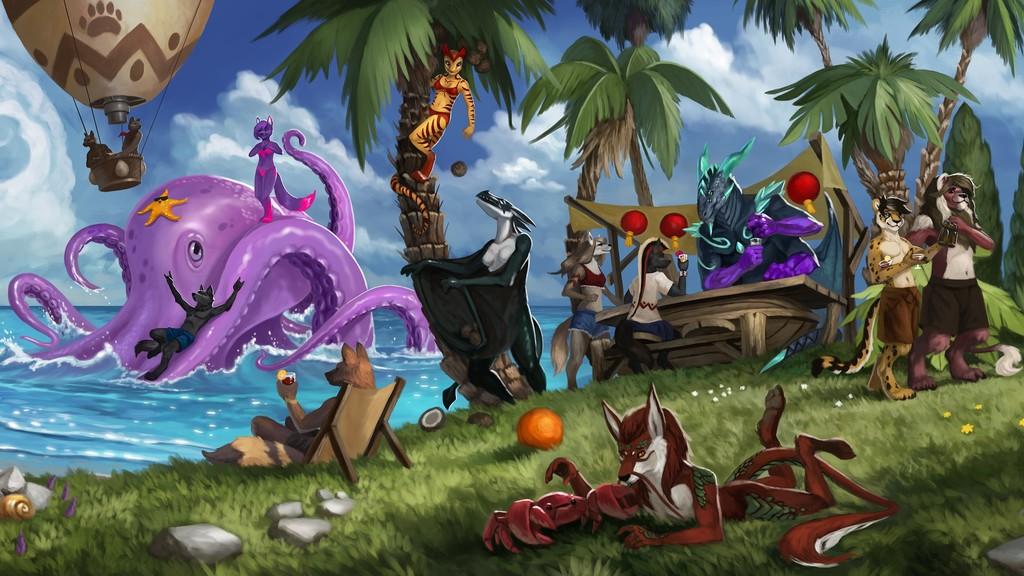Summer beach party (Auran detail)