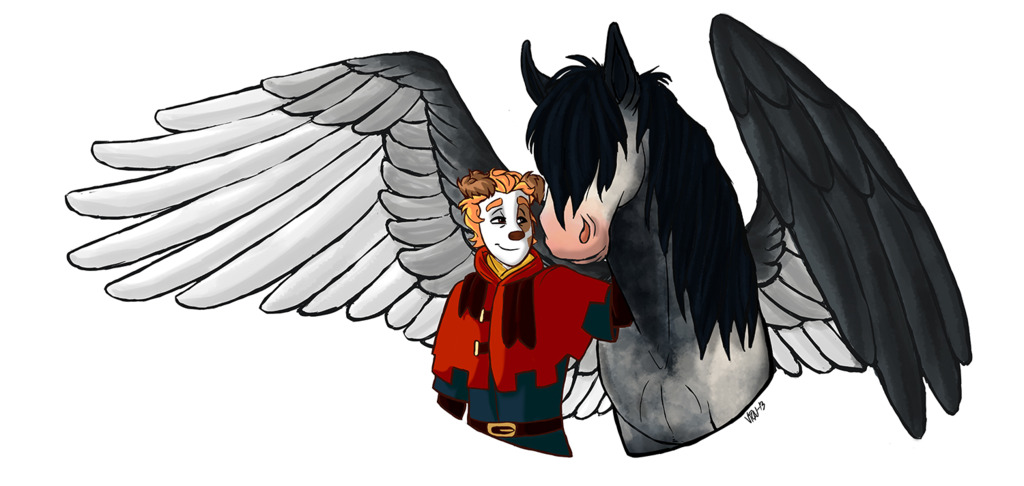 Commission - Ligo and his pegasus