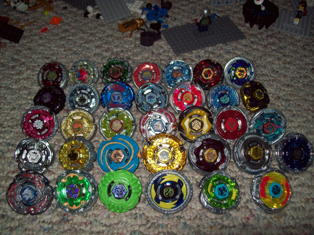 Most recent image: All my beyblades