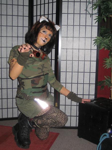 Post-apocalyptic leopard catgirl, Halloween 2009