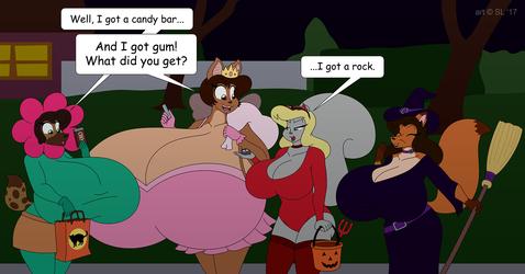 Halloween with the Gazonga Girls