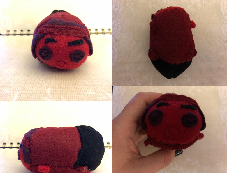 Steven Universe Ruby Stacking Tsum Plush For Sale