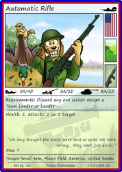 Tails and Tactics: Preview of: Automatic Rifle Card