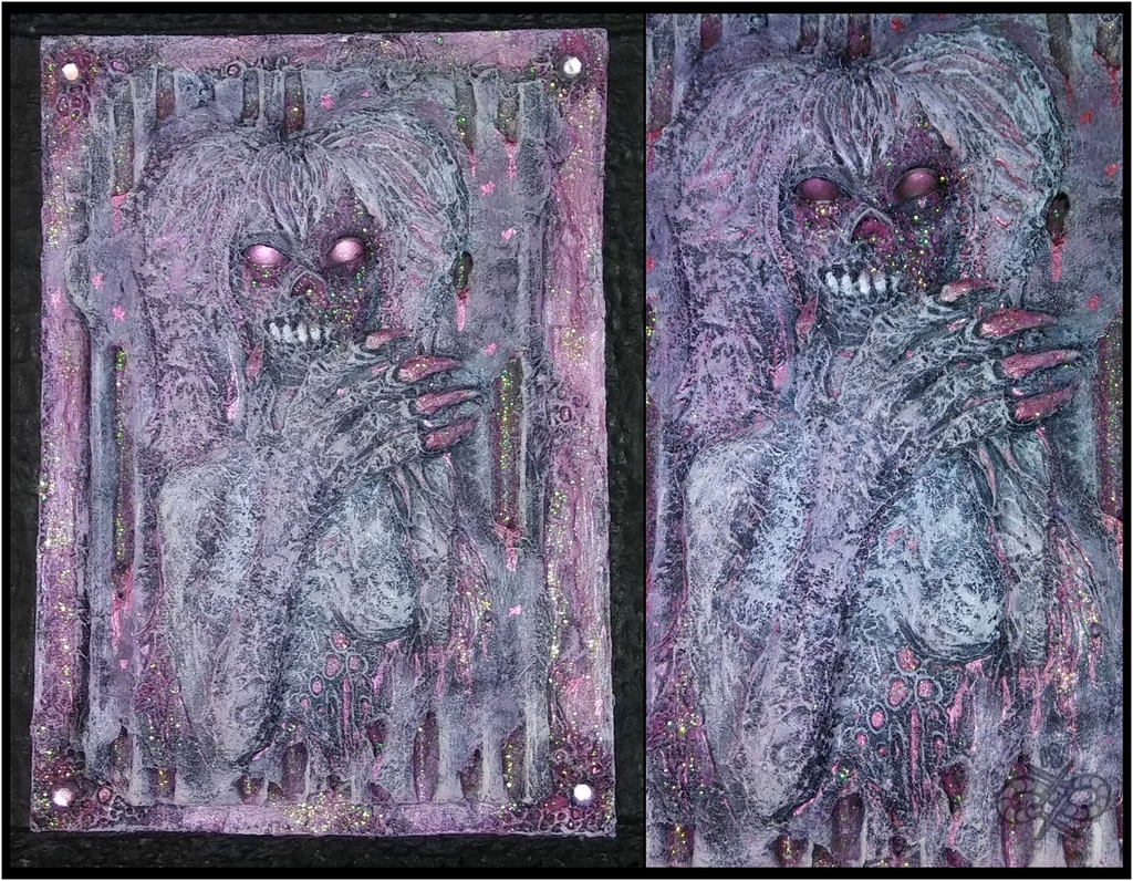 epoxy sculpture commission - nue moon