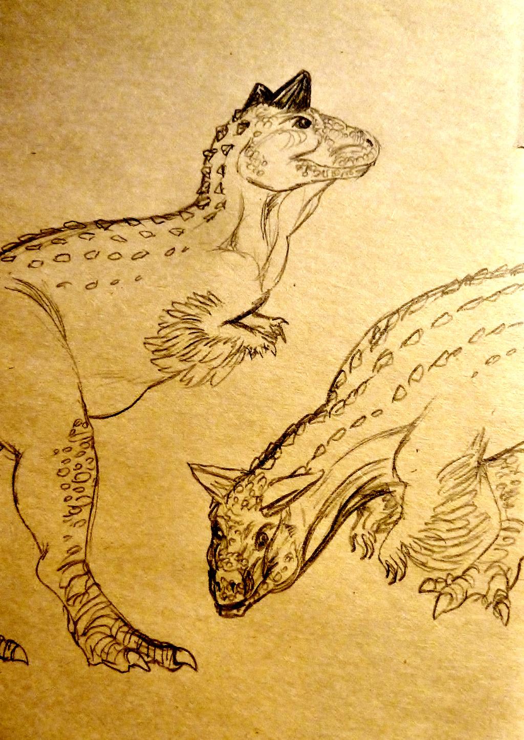 Carnotaurus Sketches