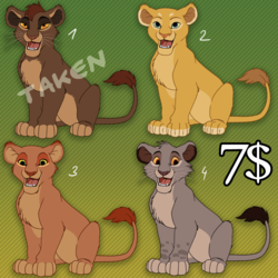 Lion King Adoptables