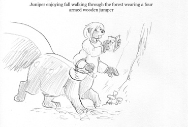 Mushroom Hunt - sketch by Cervelet