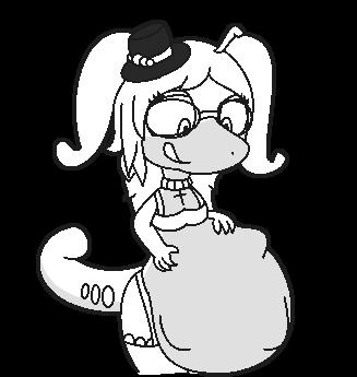 [Colorless old vore request] Clara the Goodra vore