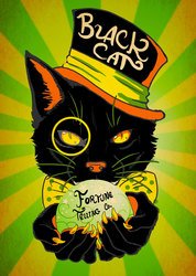 Black Cat Fortune Co. - October Patreon Print