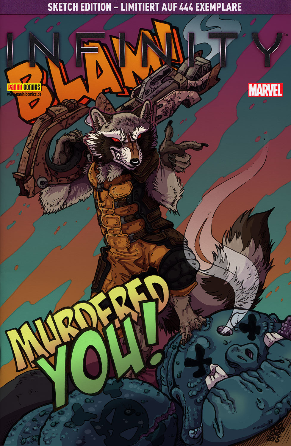 Rocket Raccoon sketch Cover2 by BHO