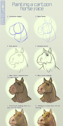 Painting a cartoonish horse face + PSD