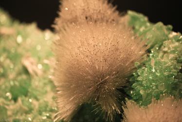 Mesolite, with Fluorapophyllite