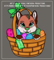 Easter tea-fox