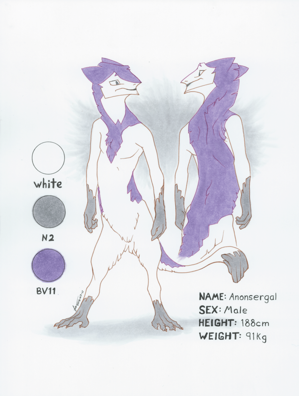 AnonSergal Character Reference