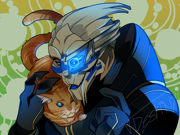 Garrus And Kitty (COMMISSION)