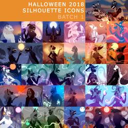Halloween Sil. Icons 2018: 1