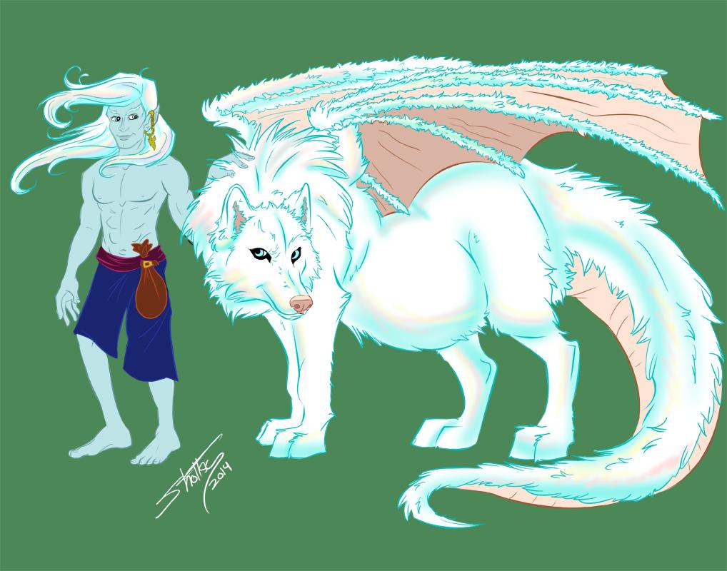 Varghr wolf and elf form