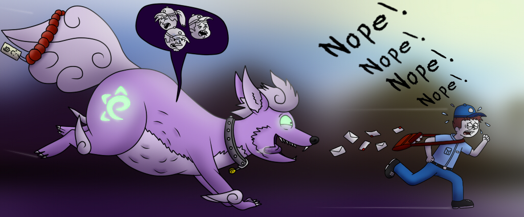 Polter-Pup's Piggish for Postal Persons - by Macaroni-Civic