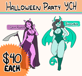 Halloween Party YCH