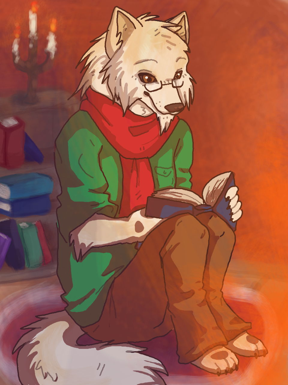 Most recent image: Fireside Story (commission)