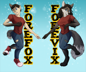 [c] Forefox/vix Double Sided Badge