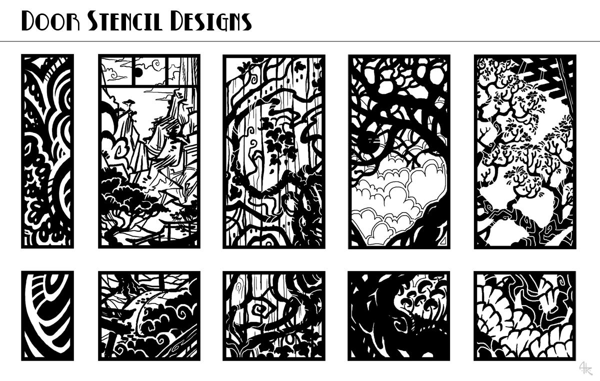 Door Stencil Designs  — Weasyl