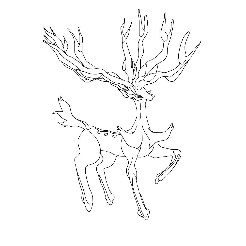 legendary deer pokemon wip  u2014 weasyl