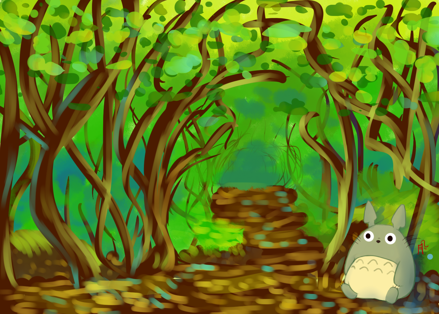 Top Wallpaper Forest Totoro - angeltsuki-totoro-wallpaper  Collection_1001725 .png