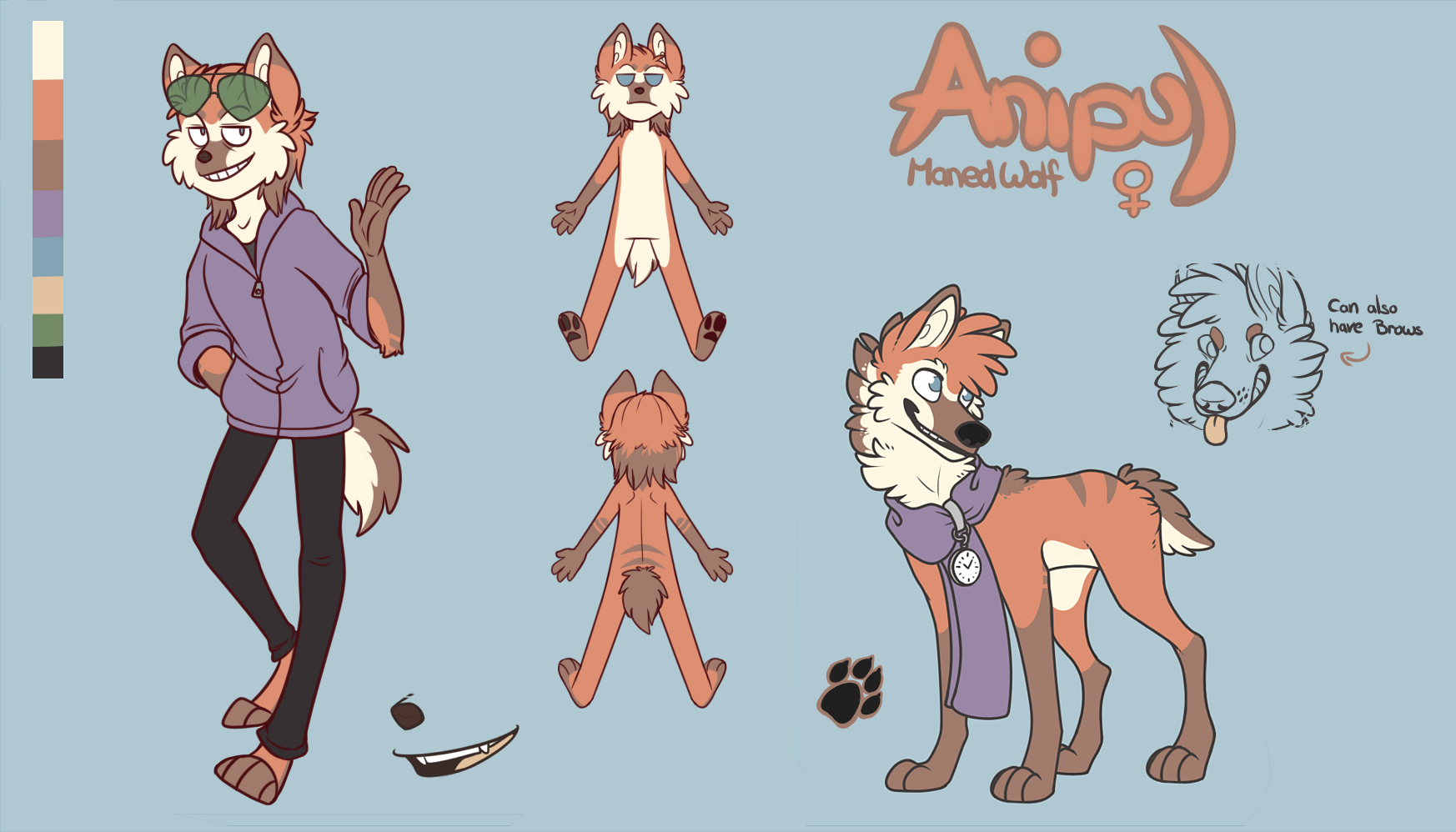 Anthro Wolf Lineart Ref