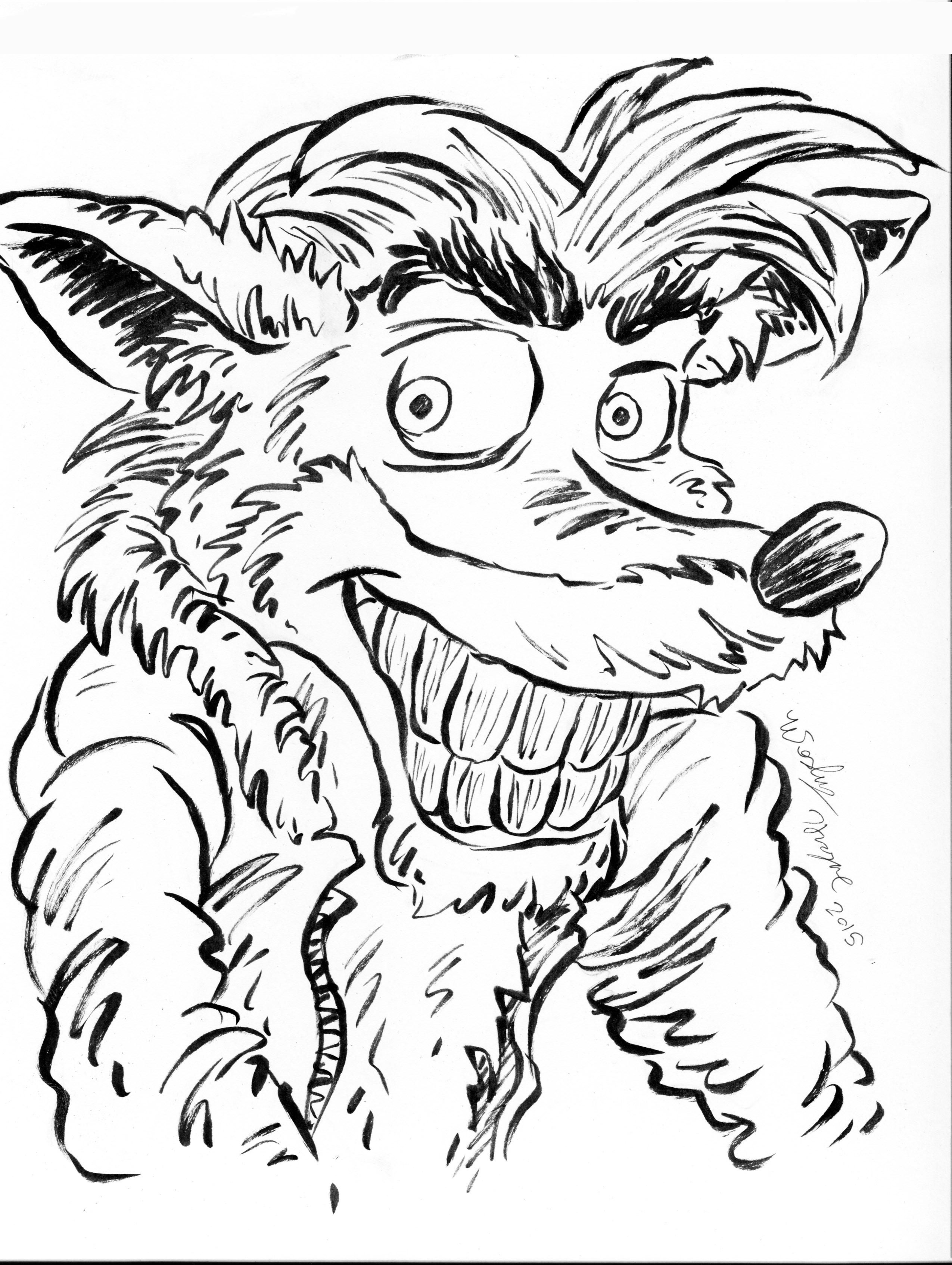 Ink October #10 Crash Bandicoot! — Weasyl