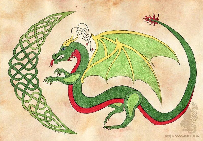 Celtic Christmas.Celtic Christmas Dragon Weasyl