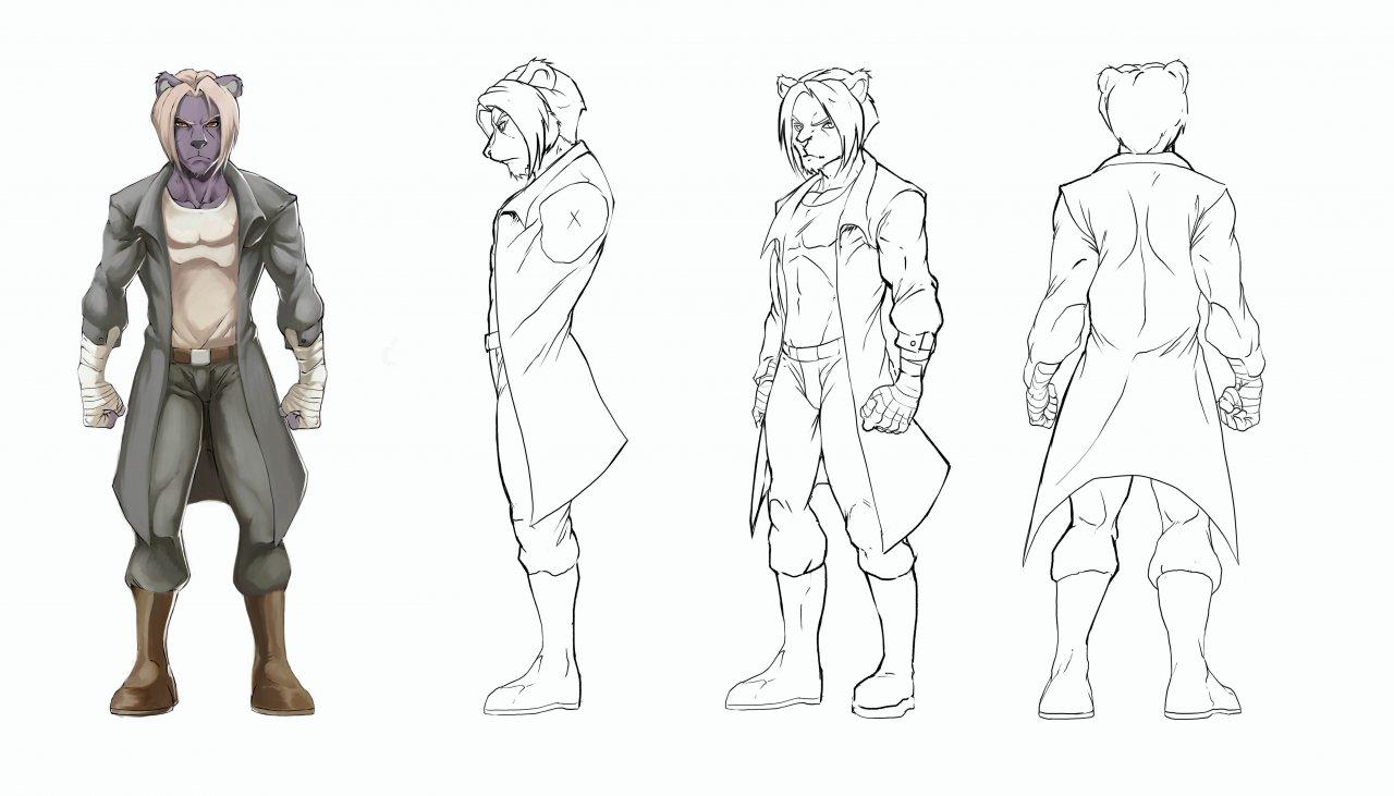 Blender Character Modeling Template : Beast s fury vincent model sheet — weasyl