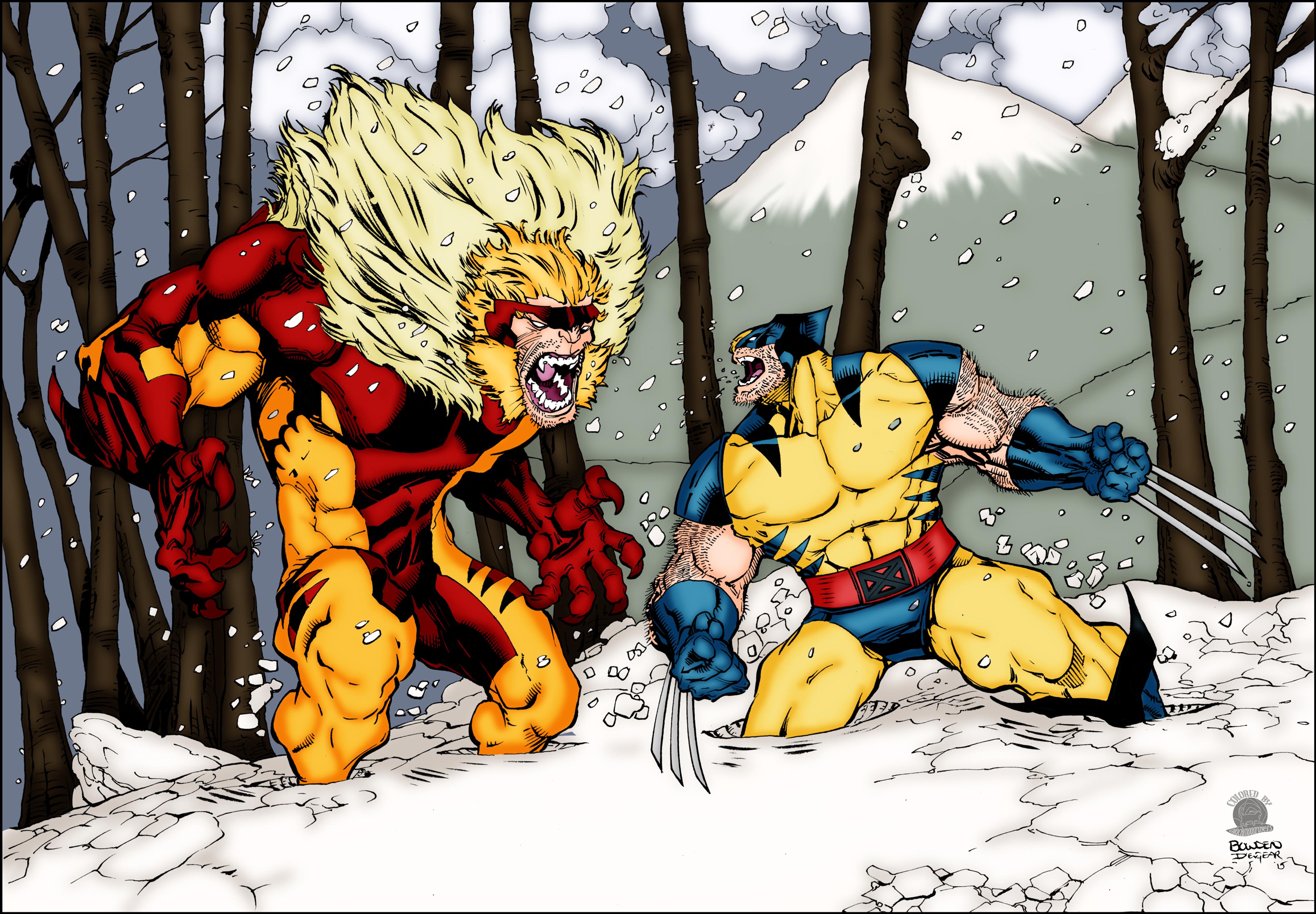 c8dba593b00 Wolverine vs Sabretooth — Weasyl