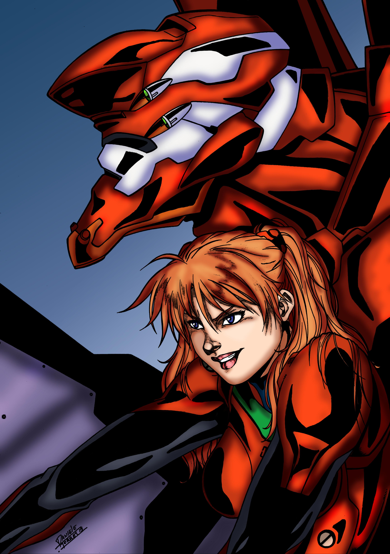 Asuka And Evangelion Unit 02 Weasyl