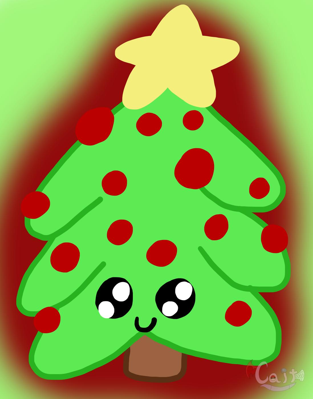Kawaii Christmas.Kawaii Christmas Tree Weasyl