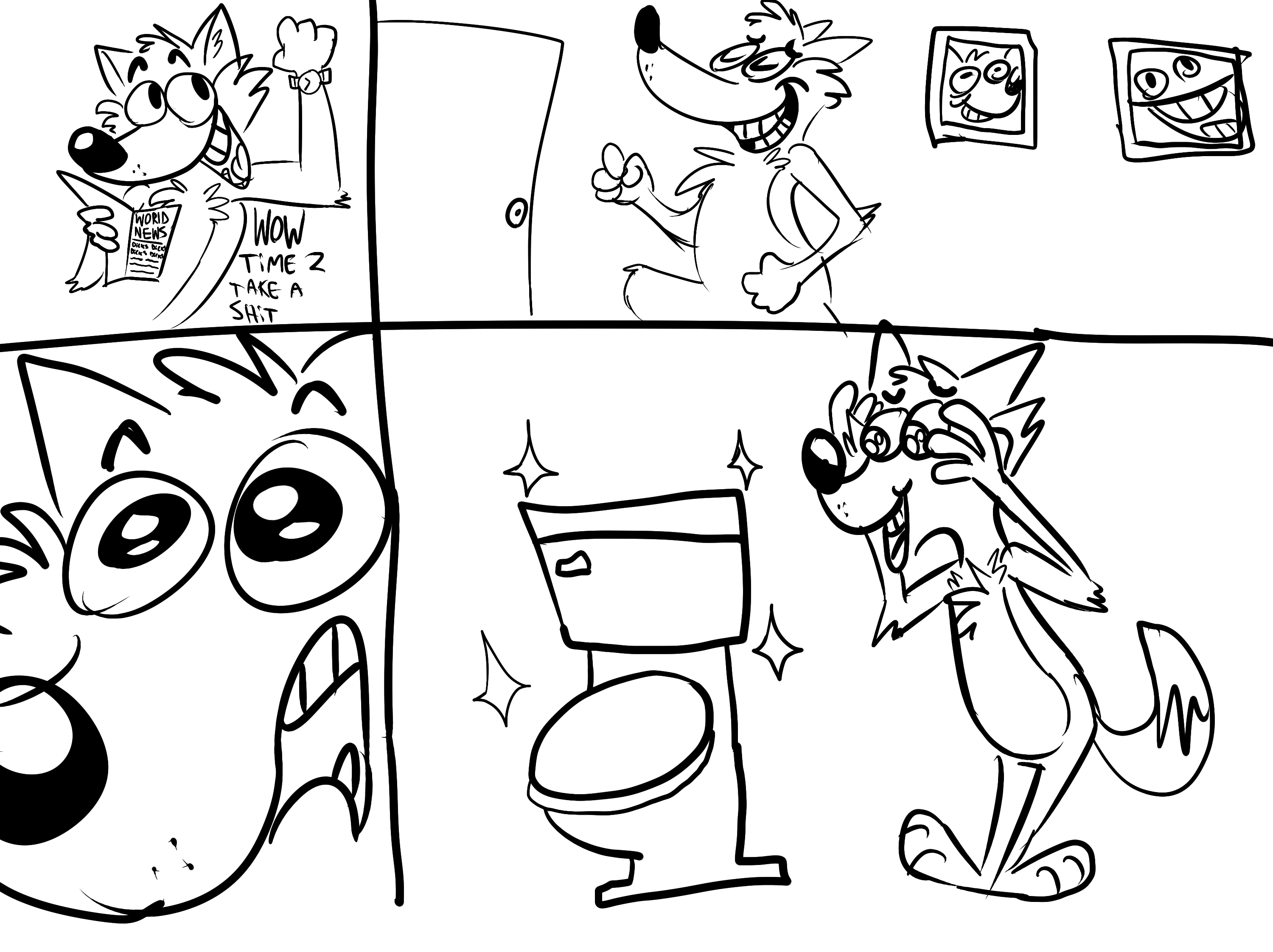 Bathroom Comics Weasyl