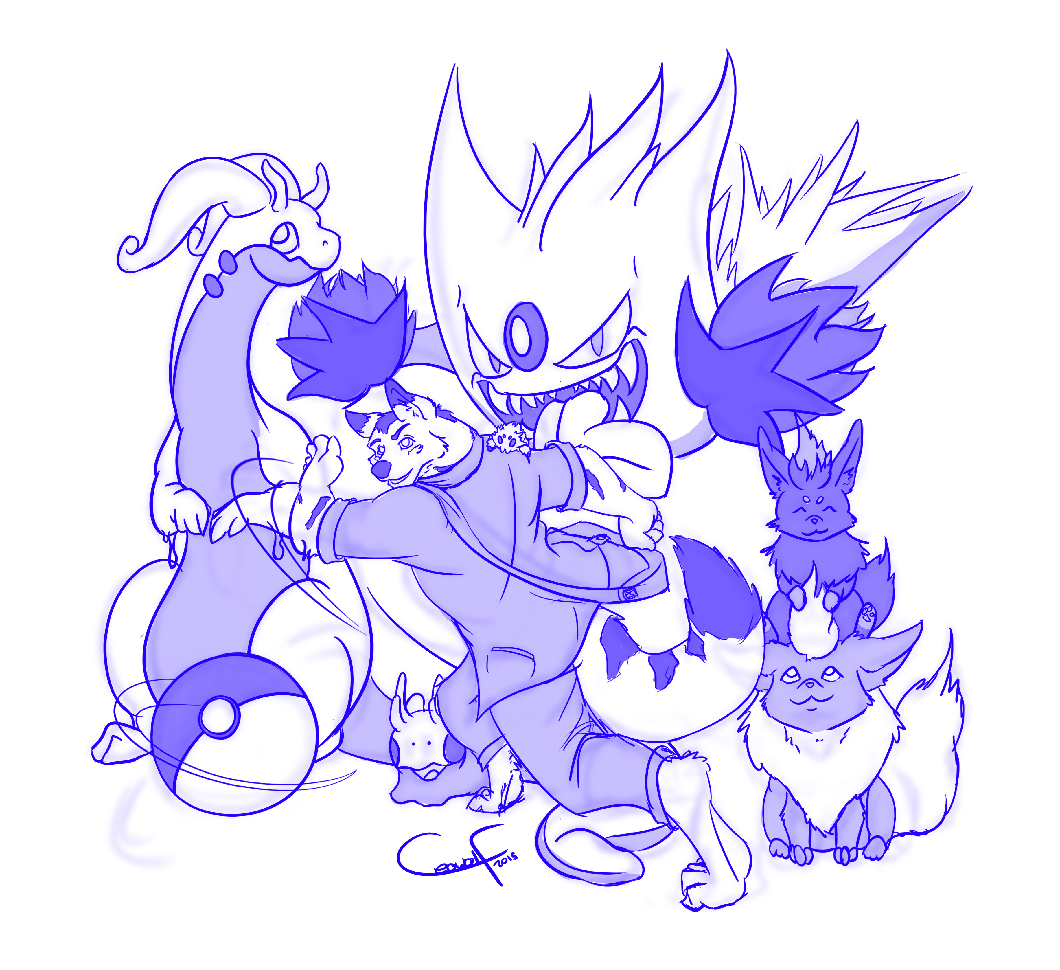 Pokemon Dream Team Sketch — Weasyl