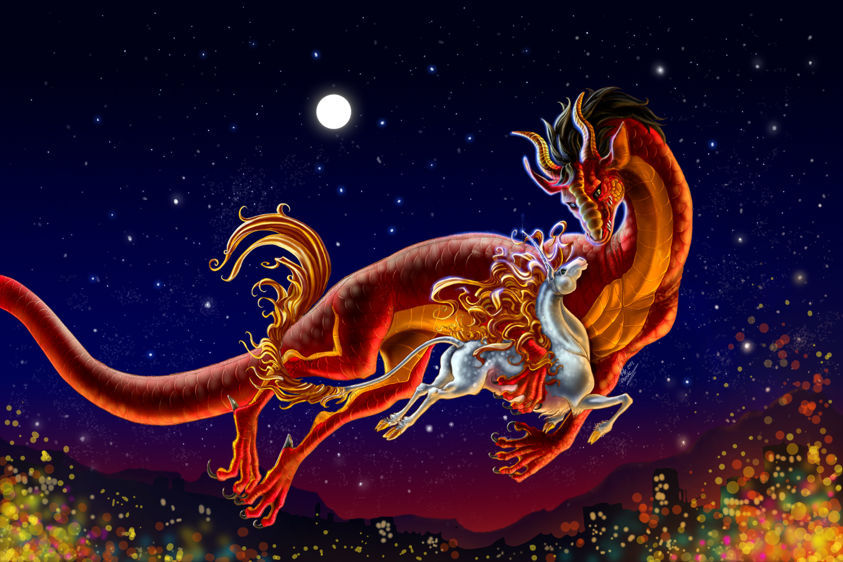 Лун ван красивый дракон картинки