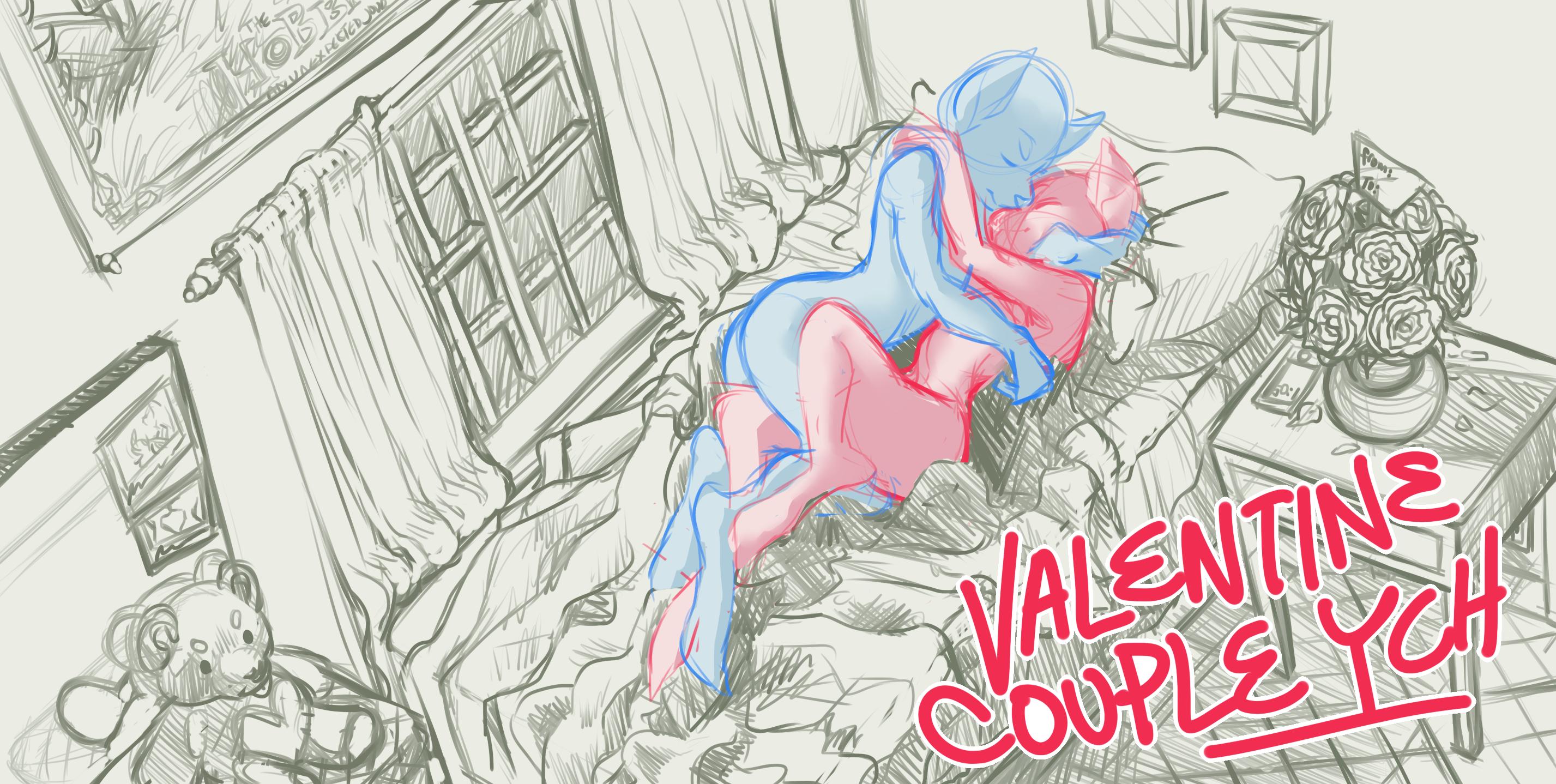 Valentine Couple Ych Open Weasyl