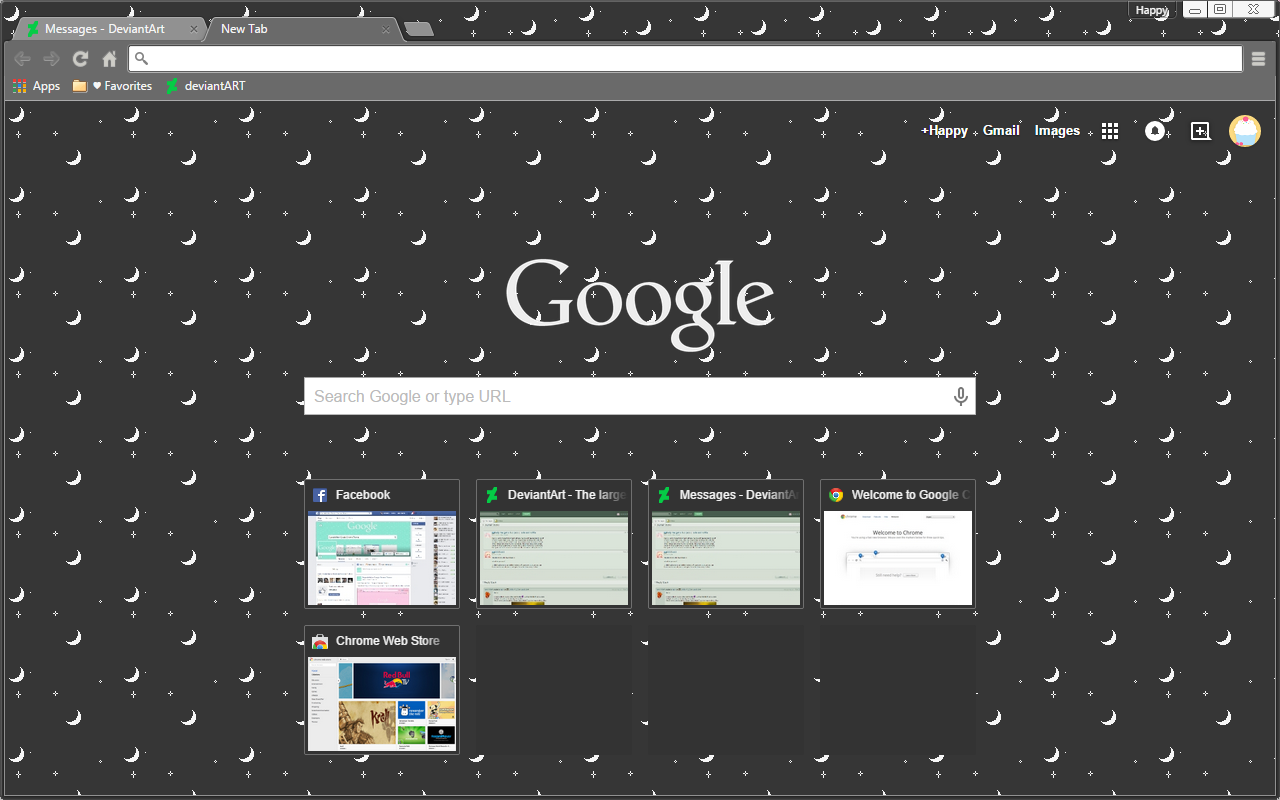 Dark Moon - Google Chrome Theme — Weasyl