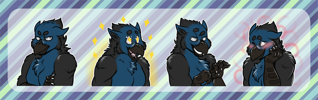 commission] Telegram Stickers: Faulkyn — Weasyl