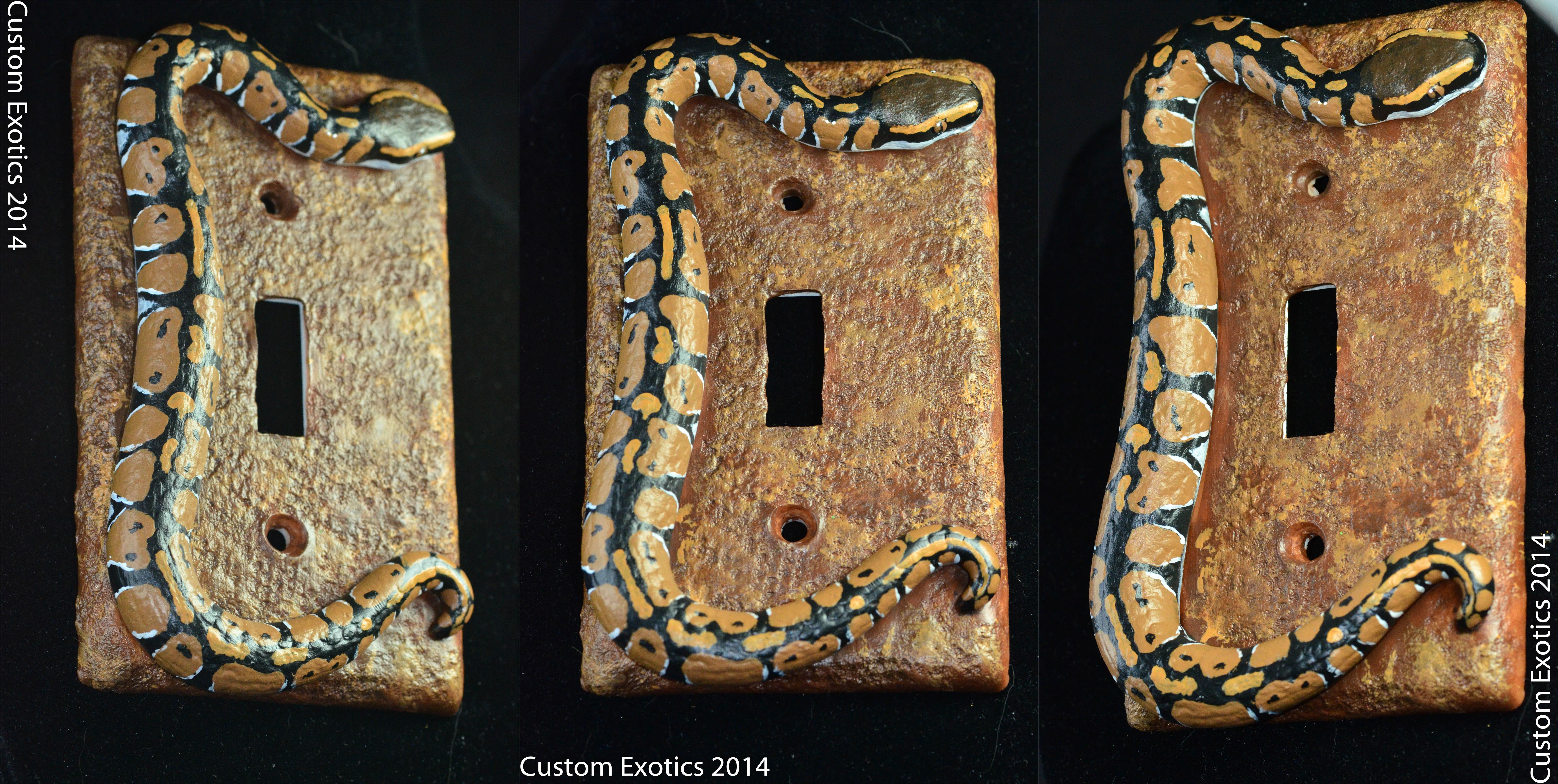 Custom Light Switch Plates Stunning Polymer Clay Normal Ball Python Light Switch Plate — Weasyl Design Inspiration