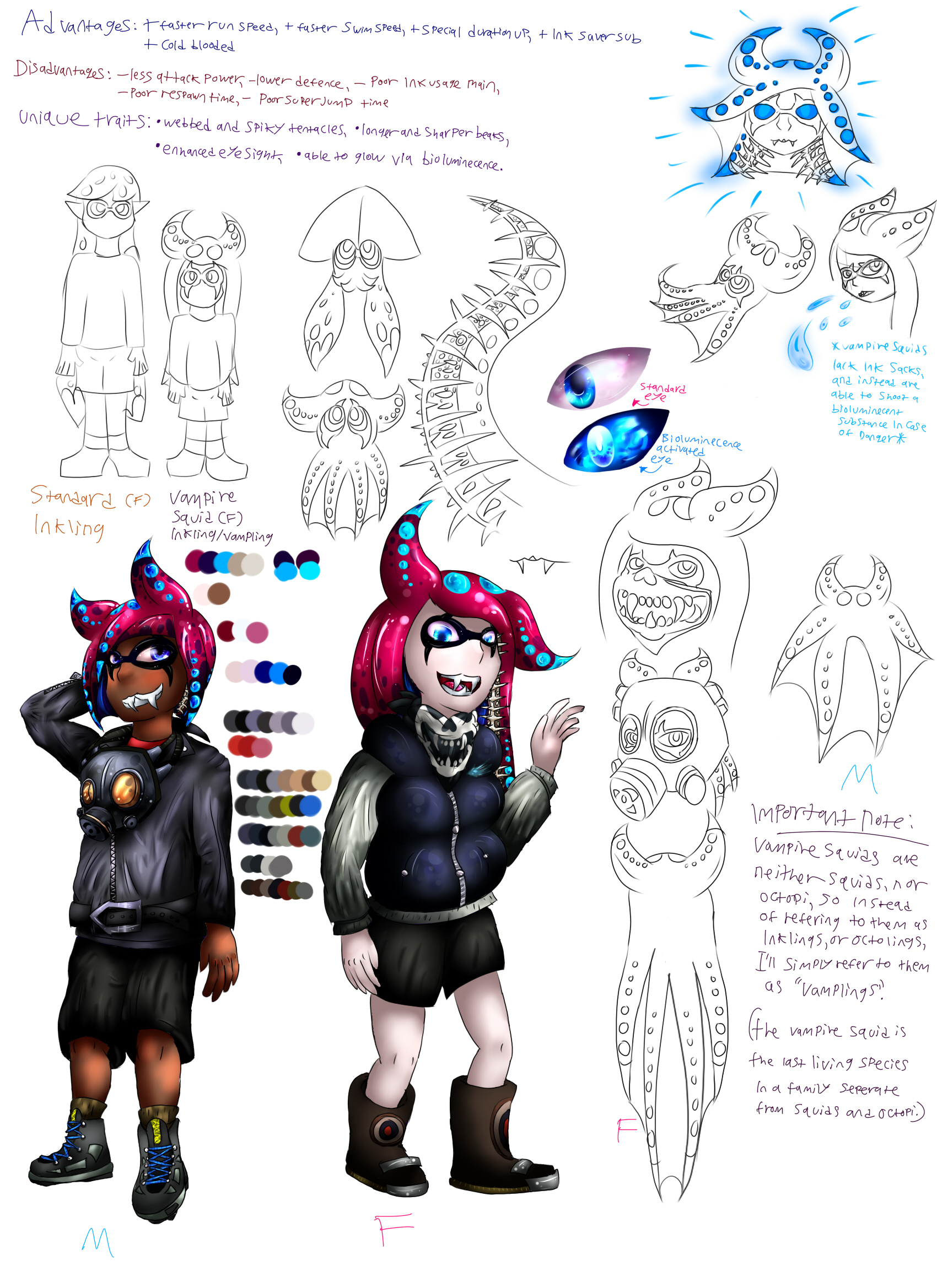 Vampire Squid Inklings Concept Art — Weasyl