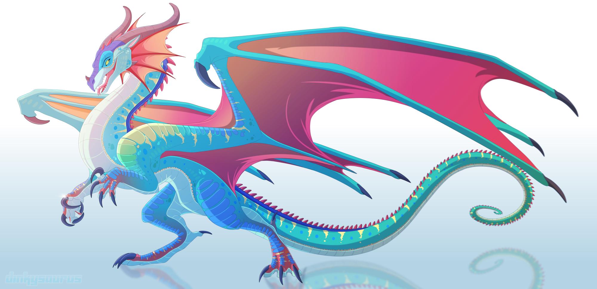 Wylandriah the Fabulous Dinkysaurus-queen-glory-of-rainwings-wof-fanart