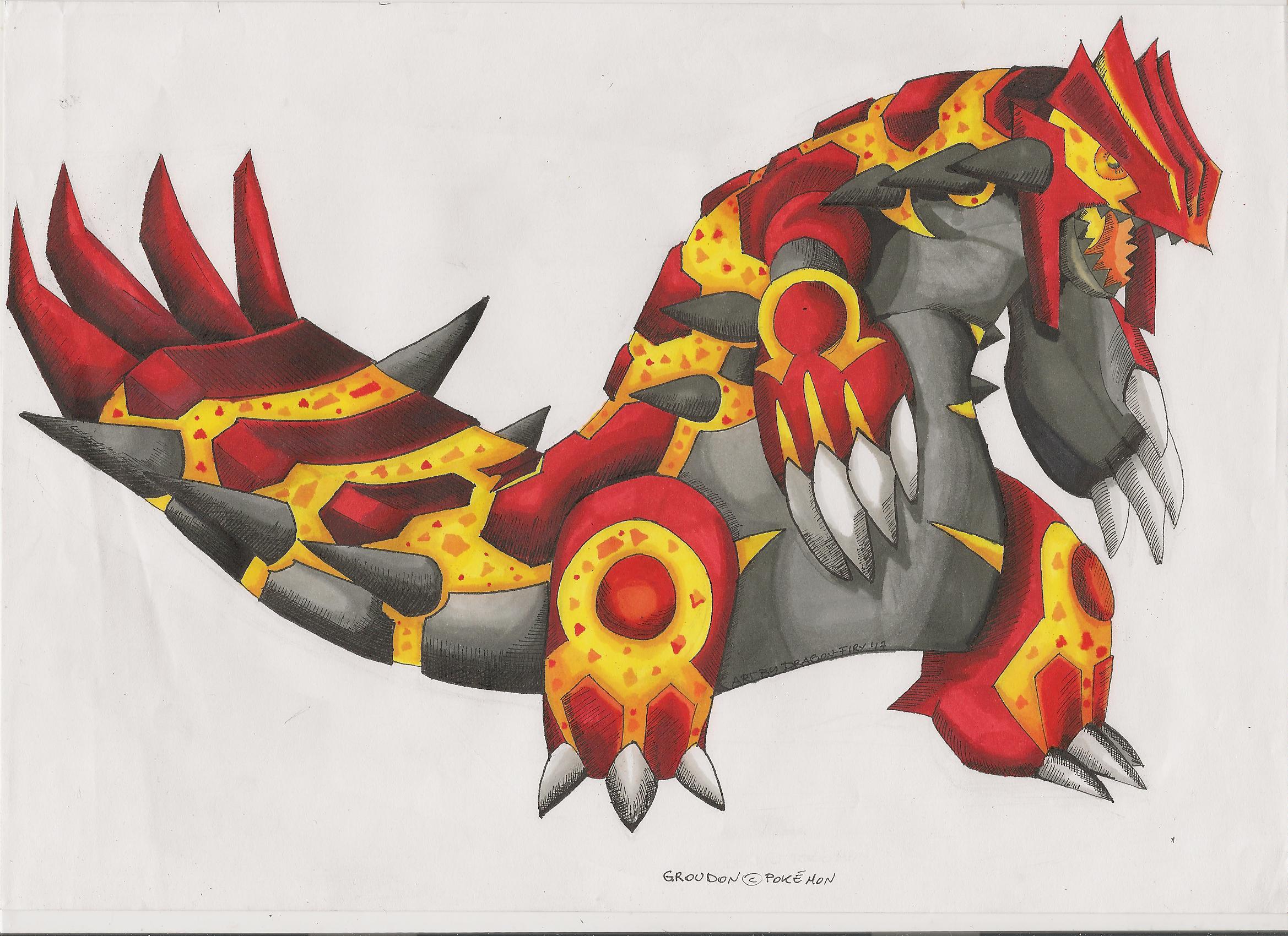 Groudon Primal form - Final [COMMISSION] — Weasyl