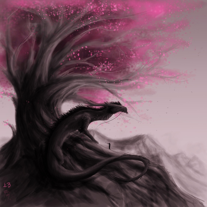 козерог драконы и сакура картинки связано