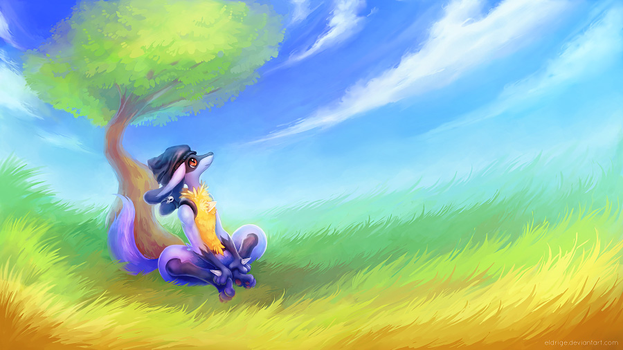 commission lucario s calm mind weasyl